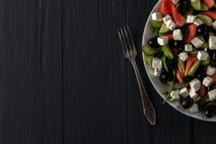 ελληνική σαλάτα πιάτων Στοκ Εικόνα