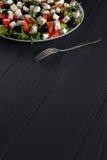 ελληνική σαλάτα πιάτων Στοκ εικόνες με δικαίωμα ελεύθερης χρήσης