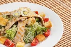 Ελληνική σαλάτα στο ξύλινο υπόβαθρο Στοκ Εικόνα