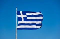 Ελληνική σημαία στην ακρόπολη της Αθήνας, Ελλάδα. Στοκ φωτογραφία με δικαίωμα ελεύθερης χρήσης