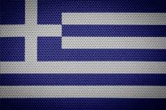 Ελληνική σημαία υφάσματος Στοκ εικόνα με δικαίωμα ελεύθερης χρήσης