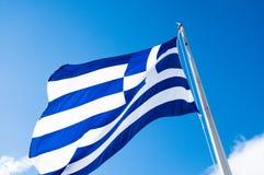 Ελληνική σημαία Στοκ Φωτογραφίες