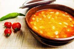 ελληνική σούπα τροφίμων φασολιών παραδοσιακή στοκ φωτογραφία με δικαίωμα ελεύθερης χρήσης