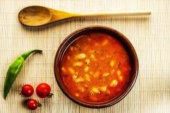 ελληνική σούπα τροφίμων φασολιών παραδοσιακή στοκ εικόνες με δικαίωμα ελεύθερης χρήσης