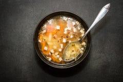 ελληνική σούπα τροφίμων φασολιών παραδοσιακή Στοκ Φωτογραφίες