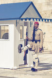 Ελληνική φρουρά 3 τιμής evzone Στοκ Εικόνα