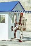 Ελληνική φρουρά 4 τιμής evzone Στοκ φωτογραφίες με δικαίωμα ελεύθερης χρήσης