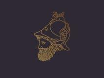Ελληνικός Θεός του πολεμικού λογότυπου Στοκ φωτογραφία με δικαίωμα ελεύθερης χρήσης