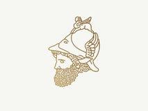 Ελληνικός Θεός του πολεμικού λογότυπου Στοκ Εικόνες