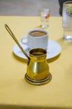 Ελληνικός καφές Στοκ Εικόνες