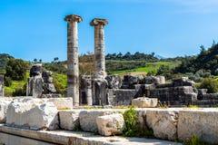 Ελληνικός ναός της Artemis κοντά σε Ephesus και Sardis Στοκ εικόνες με δικαίωμα ελεύθερης χρήσης
