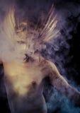 Ελληνικός Olympian Θεός, θεότητα, έννοια, άτομο με τη χρυσή μάσκα Στοκ φωτογραφία με δικαίωμα ελεύθερης χρήσης