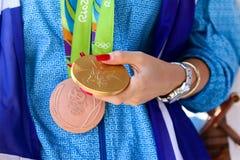 Ελληνικό αστέρι Anna Korakaki πυροβολισμού - Ολυμπιακοί Αγώνες του Ρίο Στοκ φωτογραφία με δικαίωμα ελεύθερης χρήσης