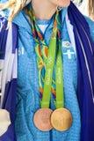 Ελληνικό αστέρι Anna Korakaki πυροβολισμού - Ολυμπιακοί Αγώνες του Ρίο Στοκ εικόνα με δικαίωμα ελεύθερης χρήσης