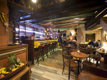 Ελληνικό εσωτερικό εστιατορίων και φραγμών Στοκ Εικόνα
