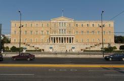 Ελληνικό κτήριο του Κοινοβουλίου Στοκ Εικόνες