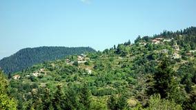 ελληνικό ορεινό χωριό Στοκ εικόνα με δικαίωμα ελεύθερης χρήσης