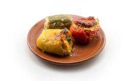 Ελληνικό παραδοσιακό πιάτο Gemista στοκ εικόνα