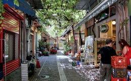 Ελληνικό πορτρέτο της καθημερινής ζωής σε Θεσσαλονίκη Στοκ φωτογραφία με δικαίωμα ελεύθερης χρήσης