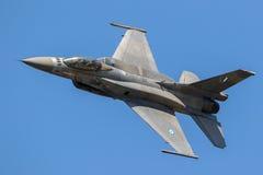 Ελληνικό πολεμικό τζετ F-16 Πολεμικής Αεροπορίας Στοκ Εικόνες