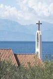 ελληνικό santorini νησιών ia της Ελλάδας εκκλησιών χαρακτηριστικό Στοκ φωτογραφίες με δικαίωμα ελεύθερης χρήσης