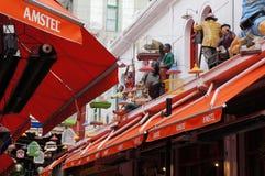 Ελληνικό taverna σε Θεσσαλονίκη Στοκ εικόνα με δικαίωμα ελεύθερης χρήσης