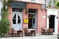Ελληνικό Taverna στη Πλάκα Αθήνα Στοκ εικόνες με δικαίωμα ελεύθερης χρήσης