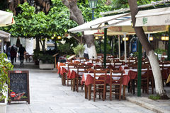 Ελληνικό Taverna στη Πλάκα Αθήνα Στοκ Εικόνες