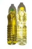 Ελιά εναντίον του ηλιέλαιου που εμφιαλώνεται στη PET Στοκ φωτογραφία με δικαίωμα ελεύθερης χρήσης