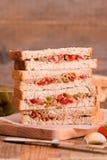Ελιές τόνου και σάντουιτς ντοματών Στοκ εικόνα με δικαίωμα ελεύθερης χρήσης