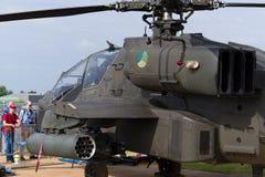 Ελικόπτερο αγώνα Apache Στοκ Φωτογραφίες