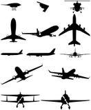 Ελικόπτερο αεροπλάνων λογότυπων εικονιδίων Στοκ Εικόνες