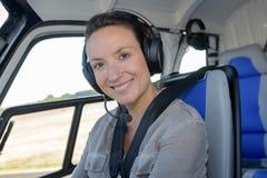 Ελικόπτερο γυναικών πορτρέτου πειραματικό Στοκ εικόνα με δικαίωμα ελεύθερης χρήσης