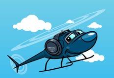Ελικόπτερο κινούμενων σχεδίων διανυσματική απεικόνιση