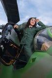 Ελικόπτερο παλαιός-χρονομέτρων και προκλητικό πρότυπο Στοκ Φωτογραφίες