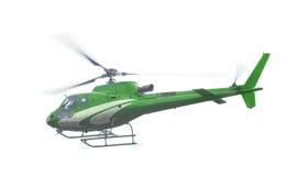 Ελικόπτερο που απομονώνεται πράσινο Στοκ Φωτογραφίες
