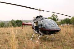 Ελικόπτερο που χρησιμοποιείται για να εκτινάξει τα ζώα από τον αέρα Στοκ Φωτογραφία