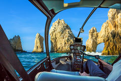 Ελικόπτερο σε Cabo SAN Lucas Στοκ φωτογραφίες με δικαίωμα ελεύθερης χρήσης