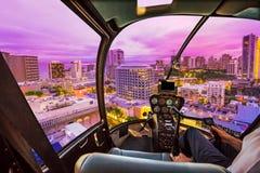 Ελικόπτερο σε Waikiki Στοκ Εικόνες