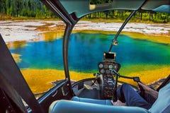 Ελικόπτερο σε Yellowstone Στοκ εικόνα με δικαίωμα ελεύθερης χρήσης