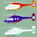 Ελικόπτερο, σύνολο ελικοπτέρων ελεύθερη απεικόνιση δικαιώματος