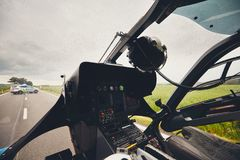 Ελικόπτερο της ιατρικής υπηρεσίας έκτακτης ανάγκης Στοκ Φωτογραφίες