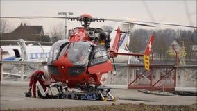 Ελικόπτερο Manteinance απόθεμα βίντεο