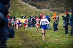 ΕΔΙΜΒΟΥΡΓΟ, ΣΚΩΤΙΑ, UK, στις 10 Ιανουαρίου 2015 - αθλητές ελίτ compe Στοκ Εικόνες