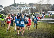 ΕΔΙΜΒΟΥΡΓΟ, ΣΚΩΤΙΑ, UK, στις 10 Ιανουαρίου 2015 - αθλητές ελίτ compe Στοκ Φωτογραφία
