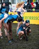 ΕΔΙΜΒΟΥΡΓΟ, ΣΚΩΤΙΑ, UK, στις 10 Ιανουαρίου 2015 - exhau αθλητών ελίτ Στοκ Φωτογραφίες