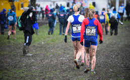 ΕΔΙΜΒΟΥΡΓΟ, ΣΚΩΤΙΑ, UK, στις 10 Ιανουαρίου 2015 - exhau αθλητών ελίτ Στοκ Εικόνα