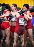 ΕΔΙΜΒΟΥΡΓΟ, ΣΚΩΤΙΑ, UK, στις 10 Ιανουαρίου 2015 - exhau αθλητών ελίτ Στοκ φωτογραφίες με δικαίωμα ελεύθερης χρήσης