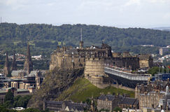 Εδιμβούργο Castle και δερματοστιξία Στοκ εικόνες με δικαίωμα ελεύθερης χρήσης