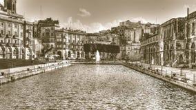 Ελλιμενίστε το αριθ. 1, Cospicua, φωτογραφία τόνου HDR σεπιών της Μάλτας Στοκ Εικόνα